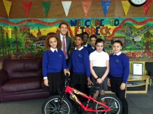 Sam Leggitt Primary Consultant presenting Land Rover Mountain Bike.