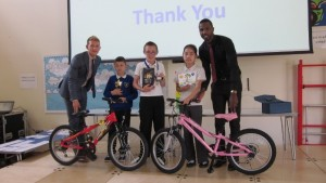 Sam Leggitt Primary consultant and Ryan Miller London Branch Manager with the winners of 2014.